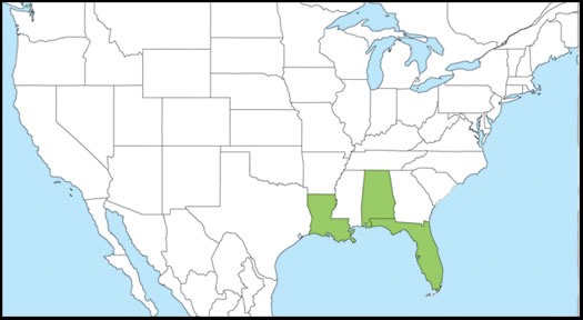 Butterfly Gardening With Native Plants And Butterfly Garden - Map of alligators in us