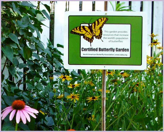 Delicieux Certify Your Love Of Butterfly Gardening Butterfly Garden Certification Sign