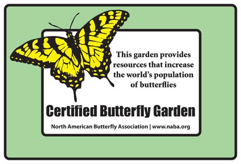 Ordinaire Outdoor Weatherproof Sign For NABA Certified Butterfly Garden