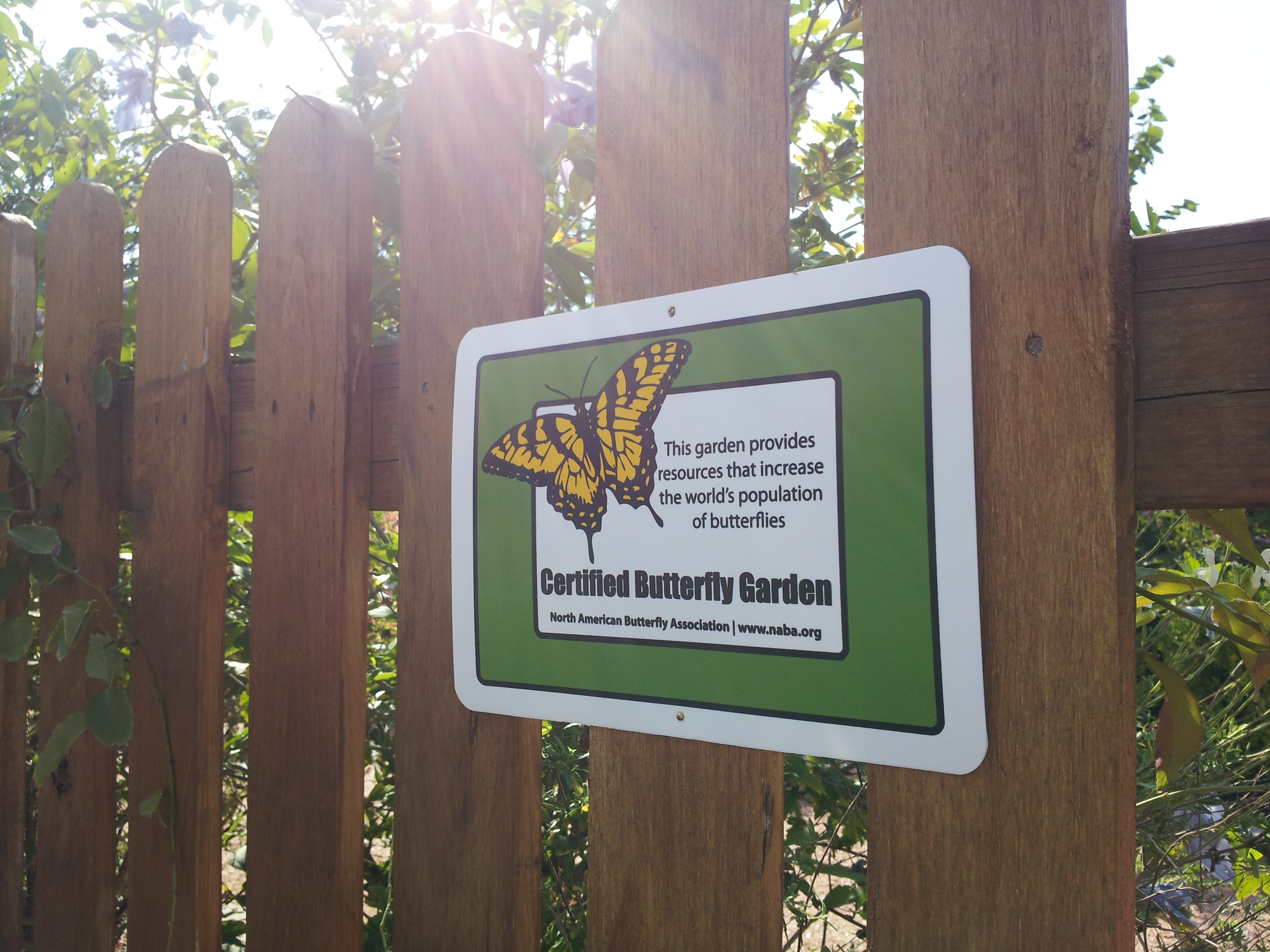 Superbe NABA Certified Butterfly Garden #1075 At The Texas Quilt Museum